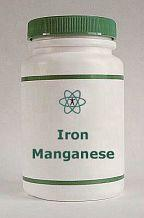 iron and manganese supplement bottle
